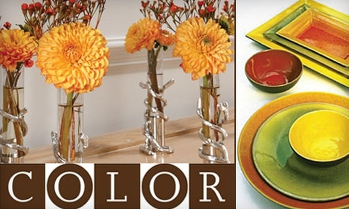 Color - Green Hills: $20 for $40 Worth of Home Accessories and Gifts at Color