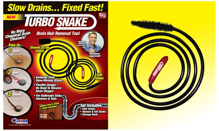 Turbo Snake Drain Hair Tool Set