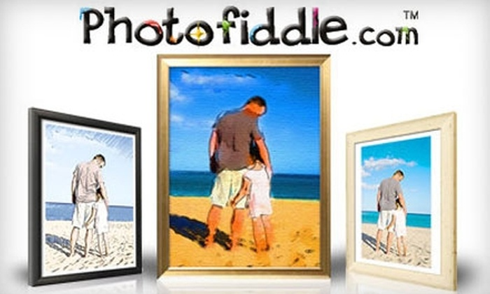 "Photofiddle.com: $90 for One 36""x24"" Gallery-Wrapped Canvas from Photofiddle.com ($189.95 Value)"
