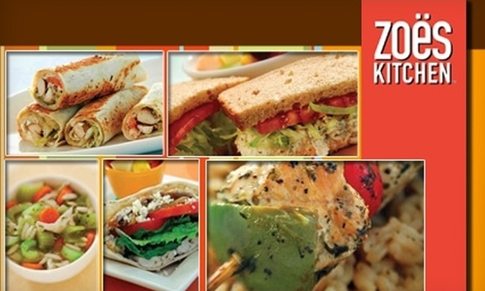 Zoёs Kitchen - Palm Valley: $10 for $20 Worth of Mediterranean-Inspired Eats and Drinks at Zoёs Kitchen