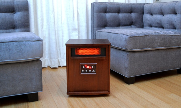 LifeSmart 6-Element Infrared Heater with Wood Cabinet: LifeSmart 6-Element Infrared Heater with Wood Cabinet (LS-1000X-6W). Free Shipping and Returns.