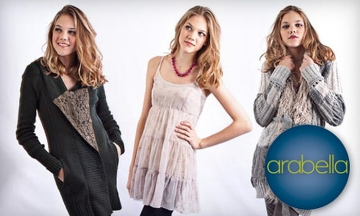 Arabella - Branford: $25 for $50 Worth of Women's Apparel, Accessories, and More at Arabella in Branford