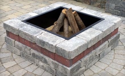Square Outdoor Fire-Pit Kit  - Unilock in Danielson