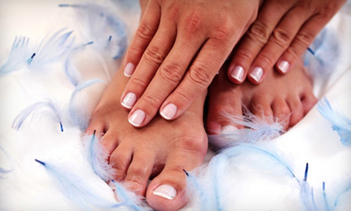 The Beauty Clinic - Irving: One or Three Signature Mani-Pedis at Glamorous Lashes By The Beauty Clinic (Up to 72% Off)
