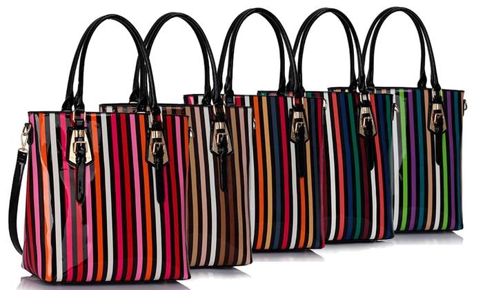 dcdc15404c Multi-Colour Striped Tote Bags