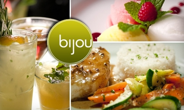 Bijou Restaurant & Bar - Downtown Hayward: $25 for $50 Worth of French-California Fusion Fare and Creative, Fresh Cocktails at Bijou Restaurant & Bar in Hayward