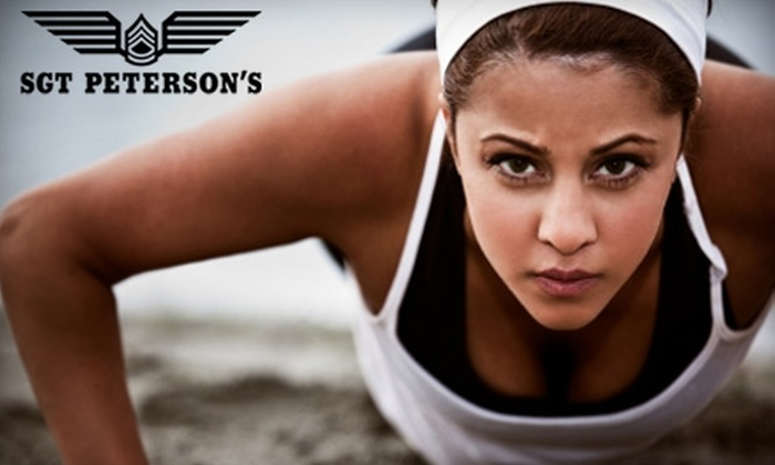Sgt. Peterson's Boot Camps and Personal Training - Multiple Locations: $48 for One Month of Unlimited Boot-Camp Classes at Sgt. Peterson's Boot Camps and Personal Training