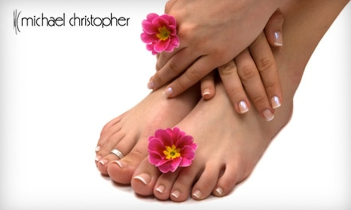 Michael Christopher - Highlands: $40 for a Mani-Pedi With Jesse Bruner at Michael Christopher (Up to $80 Value)
