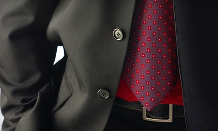 Rocky's Custom Clothes - Sherman Oaks: Two Custom Monogrammed Shirts or a Custom Super 110–160 Suit at Rocky's Custom Clothes in Sherman Oaks (Up to 52% Off)