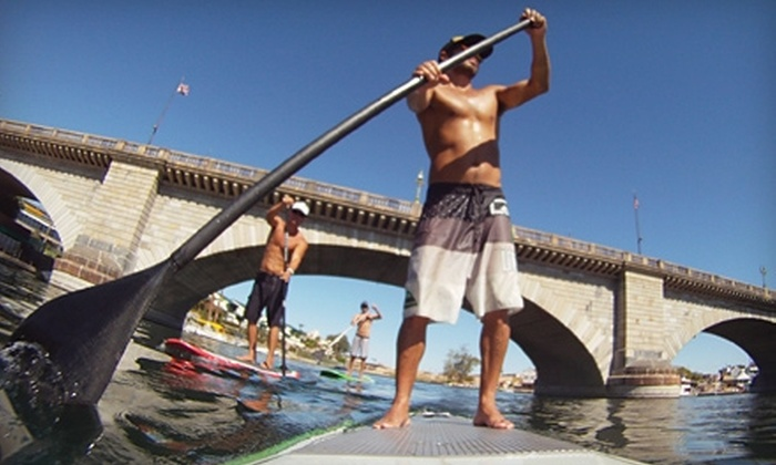 Isle Surfboards - National City: $25 for Standup Paddleboard Lesson and Mission Bay Tour from Isle Surfboards ($55 Value)