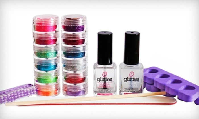 Glitties Nail Art : $39 for a Glitter Toes Kit with a One-Year Supply of Nail Art from Glitties Nail Art ($91.50 Value)