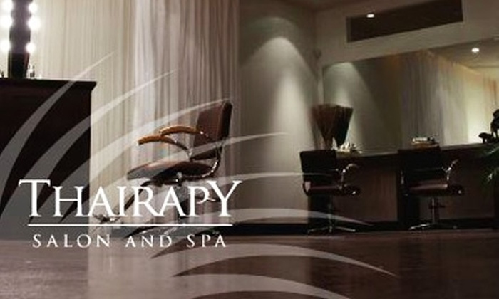 Thairapy Salon & Spa - Neartown/ Montrose: $40 for Your Choice of a Mani-Pedi, Eminence Facial, or Microdermabrasion at Thairapy Salon & Spa (Up to $130 Value)