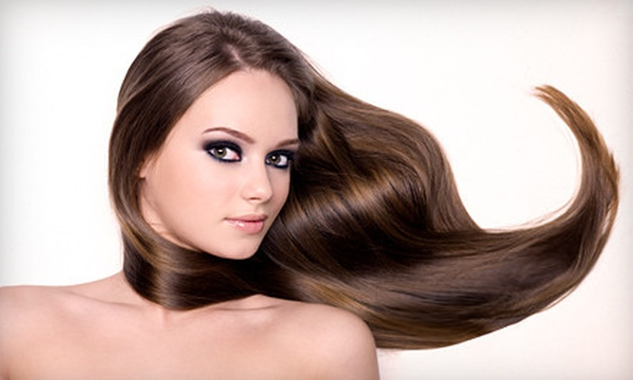 Aura at Hair-Ink Salon and Tattoo Studio  - Southeast Quadrant: $59 for Keratin Express Treatment and Shampoo and Conditioner from Aura at Hair-Ink Salon and Tattoo Studio (Up to $200 Value)