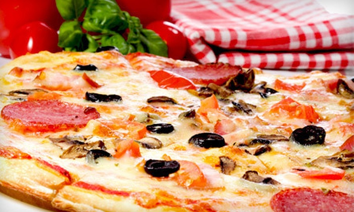 Hungry Howie's Fort Lauderdale - Plantation: $15 for Two Large Pizza Meal with Cheese Bread and a 2-Liter of Soda at Hungry Howie's in Plantation ($32 Value)