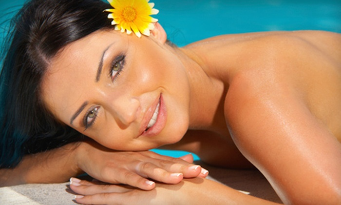 Glo Sun Spa - Multiple Locations: One VersaSpa UV-Free Tanning Session or Three Months of Lumiere Skin Rejuvenation Facial Treatments at Glo Sun Spa