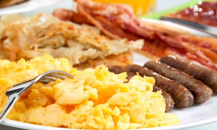 Classic Diner Food at Eggie's Restaurant (48% Off). Two Options Available.