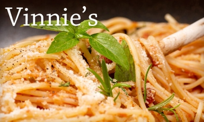 Vinnie's Pasta Bar - South End: $10 for $20 Worth of Italian Fare at Vinnie's Pasta Bar