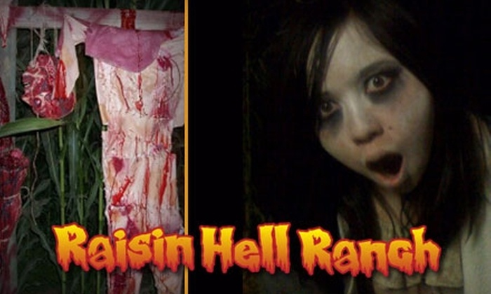 Raisin Hell Ranch Haunted Cornfield - Madera: $20 for a VIP Combo Ticket to Raisin Hell Ranch Haunted Cornfield in Madera ($40 Value)