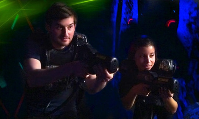 Laser Chase - Franklin: Four Games of Laser Tag or Four Vouchers Good for Four Games Each at Laser Chase (Up to 56% Off)