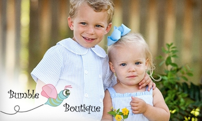 Bumble Boutique - Southeastern Columbia: $15 for $30 Worth of Children's Apparel at Bumble Boutique