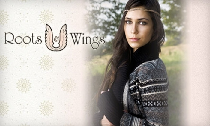 Roots & Wings - Central Omaha: $25 for $50 Worth of Clothes and Accessories at Roots & Wings