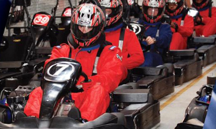 GoKart Racer - Adrian Road Auto Row District: Weekday or Weekend Hot Laps Session with License in May, June, or July at GoKart Racer in Burlingame (Up to Half Off)