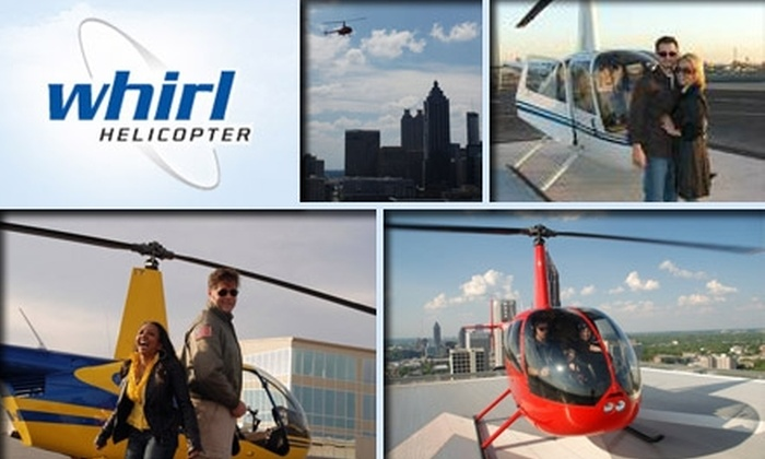 Whirl Helicopter - Kennesaw: $40 for a Helicopter Tour of Kennesaw Mountain from Whirl Helicopter Atlanta, Plus Appetizer or Dessert at Elevation Chop House