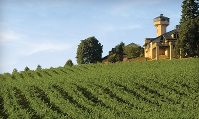Willamette Valley Vineyards - Salem: $30 for Two Reserve Tastings, Two T-shirts, and Two Winery Event Passes to Willamette Valley Vineyards in Turner ($60 Value)