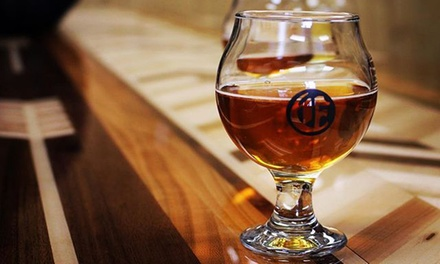 Tasting Flight and Beer Purchase Credit for One, Two, or Four at Edelbrau Brewing Company (Up to 34% Off)