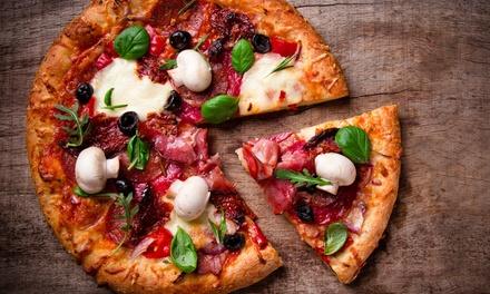 Menú para 2 o 4 personas con pizza a elegir y bebida en local o para llevar desde 11,95 € en Pizzería El Trébol