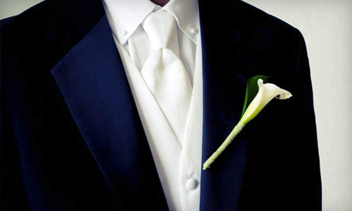 David's Tuxedos - Multiple Locations: Tuxedo Rental or Purchase Package from David's Tuxedos (Up to 57% Off)