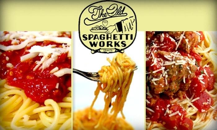Spaghetti Works - Multiple Locations: $10 for $20 Worth of All-You-Can-Eat Pasta, Drinks, and Casual Italian Fare at Spaghetti Works