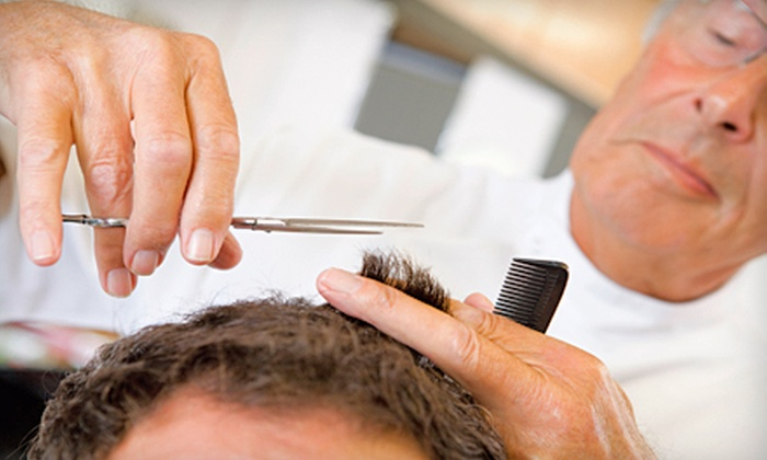 Xpress Cuts & Rapunzel Reinvented - Multiple Locations: Men's Cut, Cut and Shampoo, or Cut, Shampoo, and Eyebrow Wax at Xpress Cuts & Rapunzel Reinvented (Up to Half Off)
