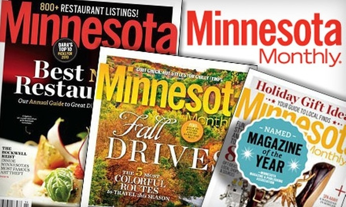 "Minnesota Monthly Magazine: $13 for a Two-Year Subscription to ""Minnesota Monthly"" Magazine ($26.95 Value)"