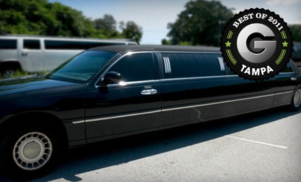 3-Hour Limo-Rental Package for up to 10 People and a Bottle of Champagne (a $380 value) - Diplomat Airport Transportation, Inc. in