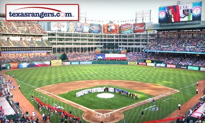 Texas Rangers - Arlington: One Ticket to a Texas Rangers Game in Arlington. Three Games Available.