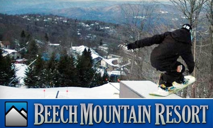 Beech Mountain Resort - Beech Mountain: $30 for Ski-Lift Ticket at Beech Mountain Resort ($60 Value)