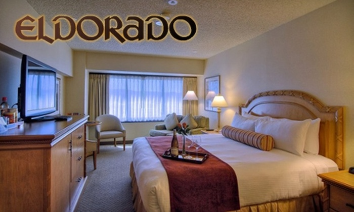Eldorado Hotel Casino  - Downtown Reno: $69 for One-Night Stay for Two, Two Glasses of Wine, and Appetizer (Up to $156 Value)
