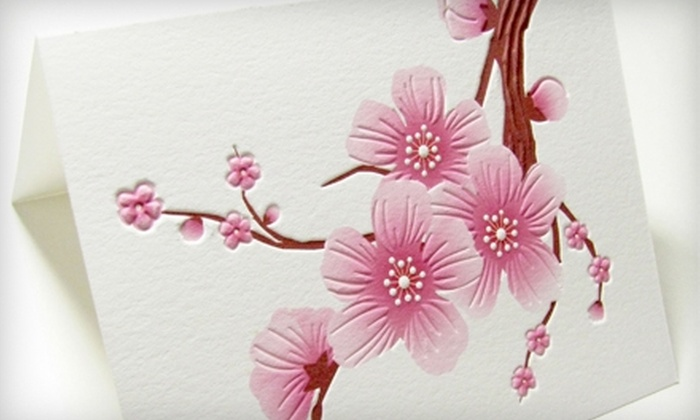 Letterpress Light - Washington DC: $12 for Six Hand-Pressed Cherry-Blossom Cards from Letterpress Light ($28.50 Value)