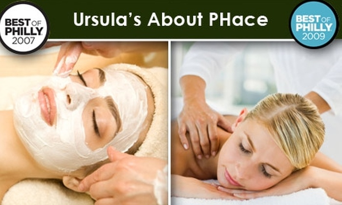 Ursula's About PHace - Center City West: $70 for a 75-Minute Nirvana Organic Facial with Massage at Ursula's About PHace ($170 Value)