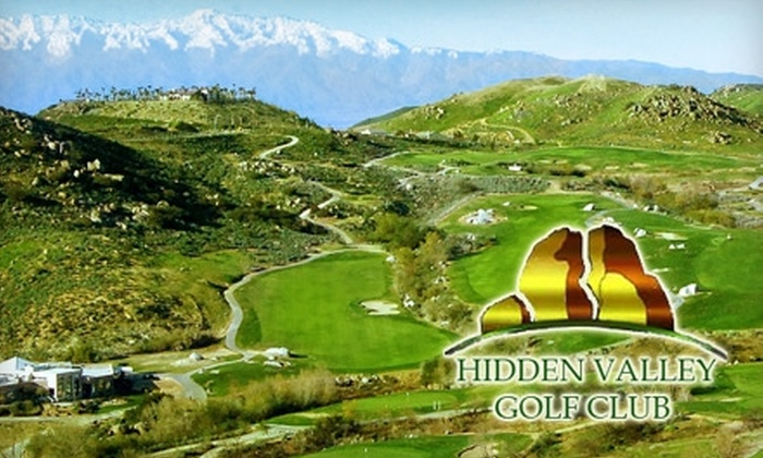 Hidden Valley Golf Club - Norco Ridge Ranch: $75 for 18 Holes of Golf, Cart Rental, a Bucket of Balls, Breakfast or Lunch with Beverage, and a Hat or Golf Shirt at Hidden Valley Golf Club in Norco (Up to $159.95 Value)