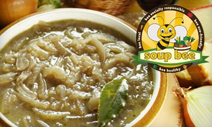 Soup Bee - Multiple Locations: $12 for Two Litres Homemade Soup and Half Loaf of Bread from Soup Bee