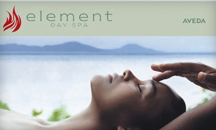 Element Day Spa - Charlestown: $59 for a Hair Spa Treatment, Blow-Dry, and Makeup Application, Plus $10 Toward Aveda Skincare Products, at Element Day Spa in Charlestown