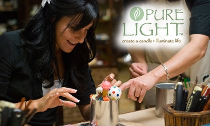 Pure Light - Multiple Locations: $19 for $40 Worth of Candle Making at Pure Light