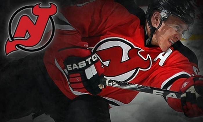 New Jersey Devils - Newark Central Business District: $29 for a 100-Level Ticket to a New Jersey Devils Game ($59 Value). Choose Between Two Games.