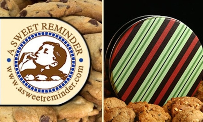 A Sweet Reminder - Sioux Falls: $10 for a Dozen Fresh-Baked, Gourmet, Mail-Order Cookies from A Sweet Reminder ($20 Value)