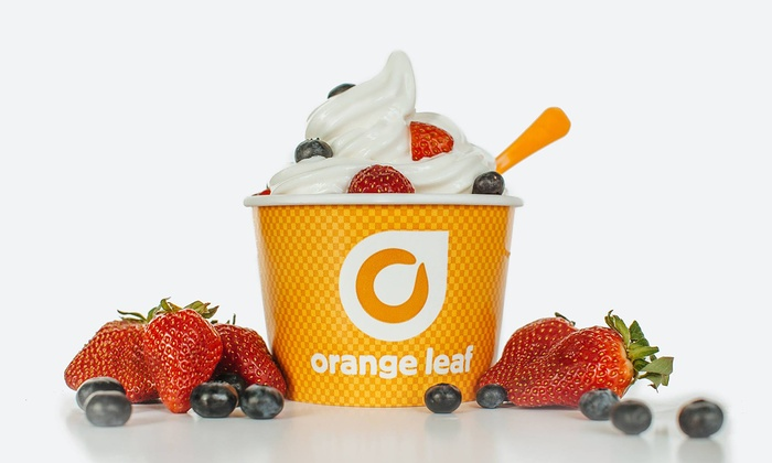 Orange Leaf Frozen Yogurt - Overland Park/Blue Valley (located just West of Antioch, East of Blue Valley ball fields, North of Coach's restaurant, off Grandview St): Frozen Yogurt at Orange Leaf Frozen Yogurt (40% Off). Two Options Available.