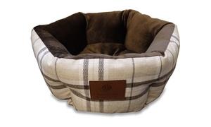 AKC Burlap Striped Cuddle Cup Pet Bed
