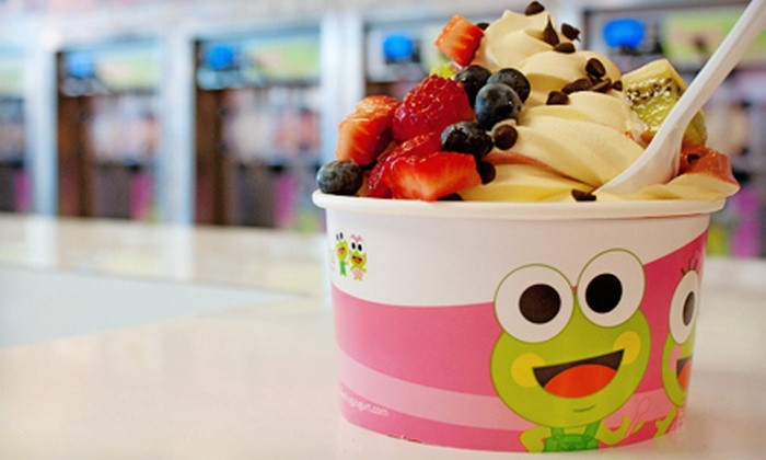 Sweet Frog Premium Frozen Yogurt - Plover: Frozen Yogurt at Sweet Frog Premium Frozen Yogurt (Half Off). Two Options Available.