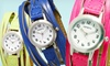 Geneva Women's Shredded Leather Watch: $10.99 for Geneva Women's Shredded Leather Watch ($29.99 List Price). Multiple Colors Available. Free Returns.